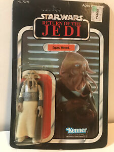 1983 Vintage Kenner Star Wars ROTJ Squidhead 65A Card Action Figure MOC SEALED