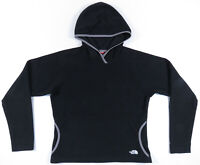 The North Face TKA 100 Spell Out Black Fleece Hooded Pullover Womens Jacket M