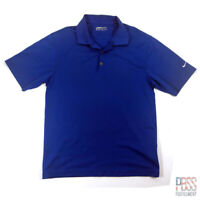 Nike Golf Mens M Short Sleeve Polyester Polo Shirt Fit-Dry Regular Fit Blue