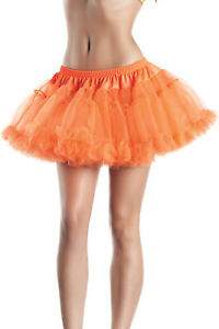 """Two Layered Mini Petticoat Tiered Tulle Mesh Costume Kate 12"""" Long BW889"""