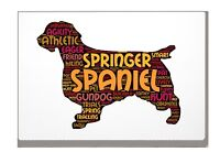 Springer Spaniel Art Print Word Art A4 A3 Mothers Day Gift Personalised Option