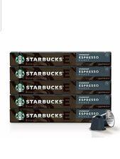 Starbucks Espresso Roast by Nespresso 50 pods (5 sleeves of 10 capsules)