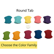 50 Genuine Stampin Up Tool Paper Cardstock Round Tab Punch Shape Die Cut Tags