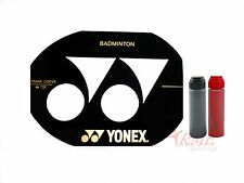 Yonex Badminton Racket Stencil with Black & Red Stencil Ink Included