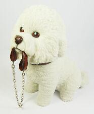 Chien figurine sculpture bichon frise avec plomb ornement coffret cadeau présent neuf