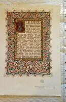 1909 Chromolithograph Print Walter Scott Blessed Biblical
