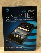 Brand New Sealed AT&T Prepaid ZTE Maven 3  Phone Smartphone