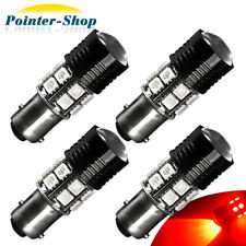 4x High Power 7W 1157 BAY15D 7528 2057 Red LED Car Tail Brake Stop Light Bulbs