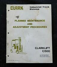 Clark C500 Y40 Y45 Y50 Y55 Sy60 Hy40 Hy50 Forklift Lift Truck Maintenance Manual