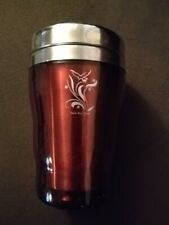 Dutch Bros Brothers Coffee Red Aware Ribbon Travel Cup Insulated Mug Rare!