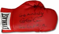 Gennady Golovkin GGG Hand Signed Auto Red Everlast Boxing Glove Full Signature!