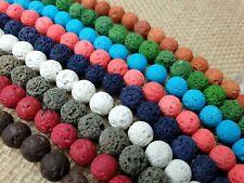Lavaperlen Steinperlen Kugeln Edelstein rund Ball 8 mm Strang 38 cm Farbauswahl