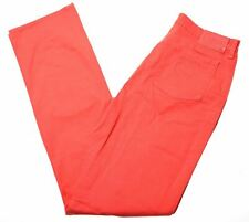 ARMANI Womens Jeans W29 L33 Red Cotton Straight  CZ02