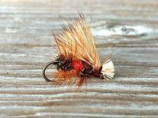 Fly Fishing Flies (Bass, Bream, Trout, Salmon) Elk Hair Caddis Royal (x 6)