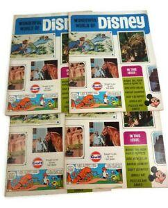 Wonderful World of Disney Lot of 4 Vintage 1968 Vol 1 Gulf Oil Magazine