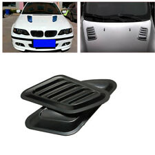 2X SUV Car Decorative Air Flow Intake Scoop Turbo Bonnet Vent Cover Hood Fender