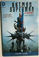 BATMAN SUPERMAN volume one Cross World (2014) DC Comics HC FINE- 1st