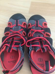 Clarks Summer Sandals Child 13F Red And Black