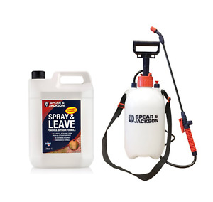Spray and Leave Concentrate 5L Spear & Jackson plus 5L Garden Sprayer