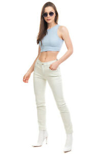 RRP €210 7 FOR ALL MANKIND Jeans Size 24 Stretch Faded Button Fly Relaxed Skinny