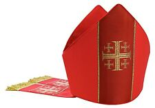 Rot Mitra, Mitre,Kasel,Messgewand,Casule, Chasuble, Vestment M103-C