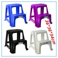 4 x Portable Plastic 2 Tier Step Stool Chair Bathroom Adult Kids Bathroom Toilet