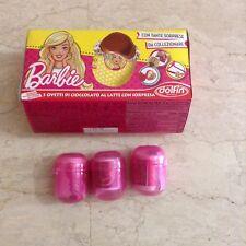 3 ovetti con all'interno sorprese Barbie con scatola Dolfin