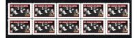 ALLMAN BROTHERS MUSIC ICONS STRIP OF 10 MINT VIGNETTE STAMPS #5