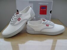HELLY HANSEN KARLSHAVN MENS OFF WHITE GREY CANVAS CASUAL TRAINER SIZE UK11 EU 46