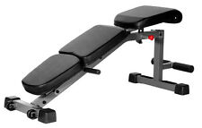 XMark Adjustable FID Flat Incline Decline Dumbbell Weight Exercise Bench XM-4440