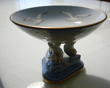 Bing Grondahl B & G Seagull Pedestal Compote Stand Dolphin Candy Dish # 66