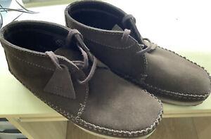 Clarks Originals Wallabee Weaver Boots UK 9.5 Brown Suede
