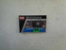 Vintage Audio Cassette ICM Superferro SDX I 60 * Rare From Switzerland 1980's *