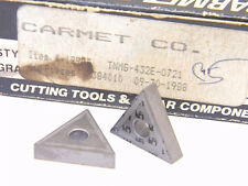 NEW SURPLUS  2PCS.  CARMET  TNMG 432E-0721  GRADE: C5  CARBIDE  INSERTS