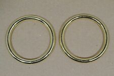 """O Ring - 2"""" - Brass Plated - Pack of 6 (F486)"""