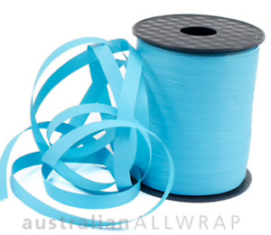 NEW_Textured Curling Ribbon TEAL BLUE 10mm x 250m (Metres)