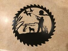 Plasma cut black painted duck hunting cut out Metal Wall Art Home Decor