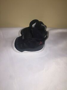"Nike Air Jordan 11 ""bred"" Crib Bootie Black toddler Size 2C"