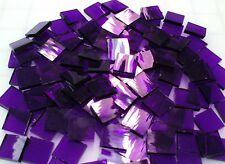 "110 Mosaic Tiles 1/2"" Purple Iris Waterglass or 4x7"" Stained Glass Sheet!"