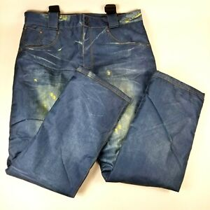 Arctic Queen Ski Snow Pants Bibs Women Size XXL Distressed Jeans Look Insulated