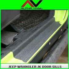 Door Sill Entry Guard Protection Fits: 4 Door Jeep Wrangler JK 07-18 Free Ship!