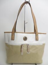 NWT GIANI BERNINI WOMEN`S SHOULDER TOTE BAG CANVAS TAUPE MSRP $119.50