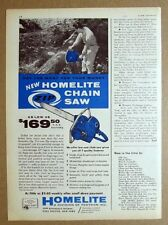 8 x 11 Original 1959 Homelite Zip Chain Saw Ad Get the Most for your money