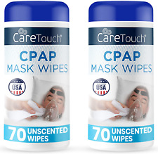 Mask Cleaning Wipes Cpap Care Touch Unscented Lint Free 70 Wipes, 2 Pack