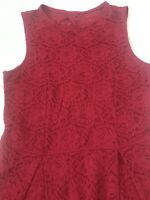Girls Abercrombie Kids Red Linings Lace Sleeveless Tiered Dress Size 13/14