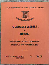 More details for gloucestershire v devon 1965 rugby union