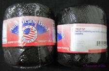 Americas Best Crochet Cotton Bedspread Thread Size 10 Black 350 Yards 2 Balls