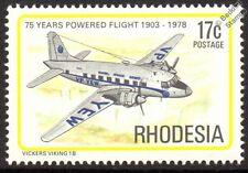 CAA Vickers VIKING 1B Airliner Aircraft Mint Stamp (1978 Rhodesia)
