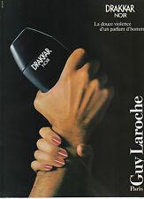 Publicité Advertising 1986  Parfum DRAKKAR NOIR de Guy Laroche parfum d'homme
