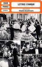 FICHE CINEMA : LETTRES D'AMOUR - Joyeux,Périer,Autant-Lara 1943 Love Letters